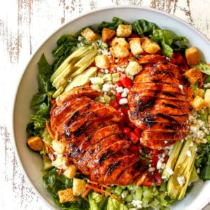 Buffalo Chicken Salad with Blue Cheese Cilantro Ranch (+Video!)