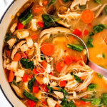 Miso Soup with Chicken, Noodles, & Shiitake Mushrooms