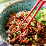 Asian Caramel Slow Cooker Pulled Pork