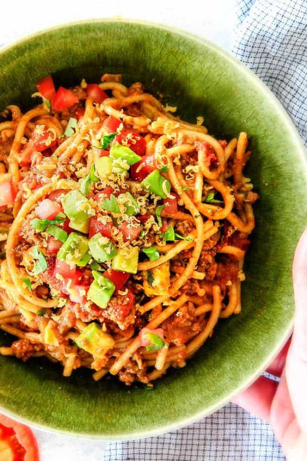 20 Minute Taco Spaghetti Simple Prep Tons Of Flavor