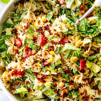 BLT Pasta Salad with Creamy Lemon Chive Dressing