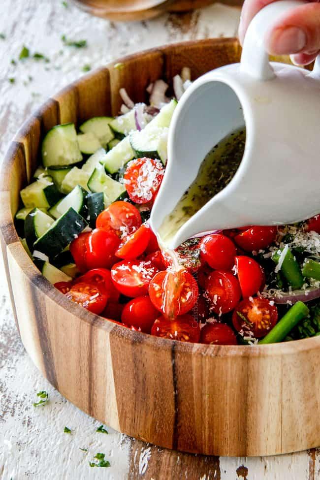 Cucumber Tomato Salad With Avocado, Mozzarella  Asparagus-8846