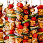 Chicken Souvlaki with Feta Yogurt Dip