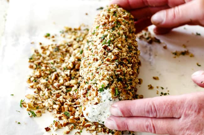 EASY Garlic Herb Cheese Log (step by step photos!)