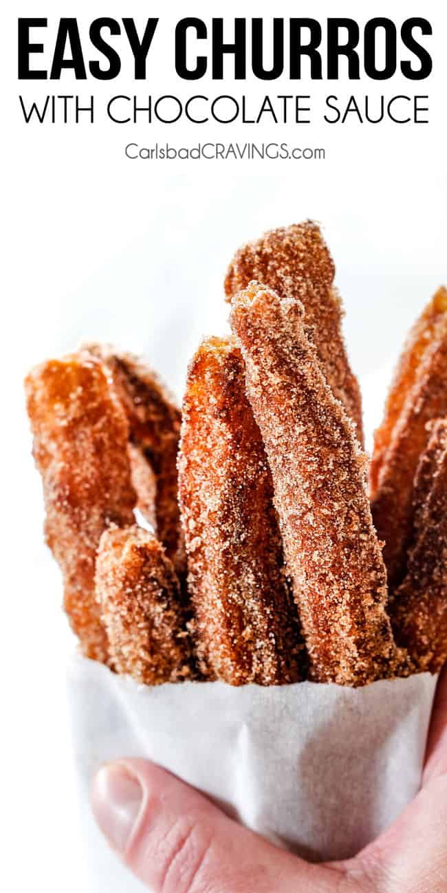 Easy Churros With Chocolate Sauce Tips Tricks Step By Step Photos