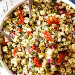 Corn Salad with Cilantro Lime Dressing