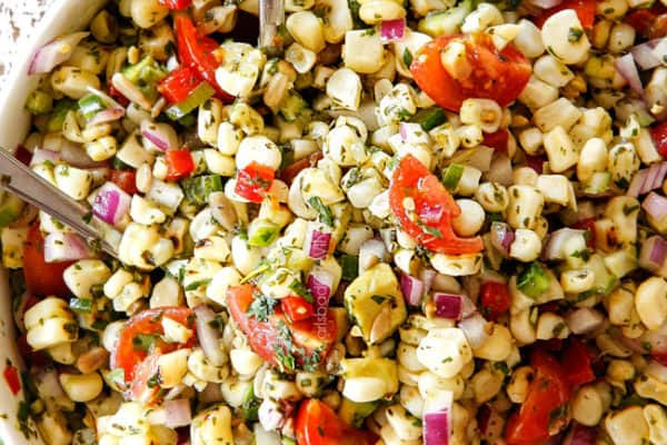 Corn Salad with Cilantro Lime Dressing