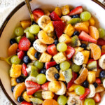 Perfect Fruit Salad (+ Video!) with Honey Citrus Poppy Seed Dressing