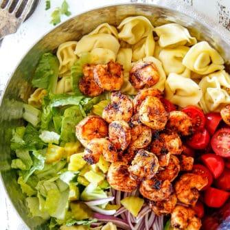 Po' Boy Shrimp Pasta Salad