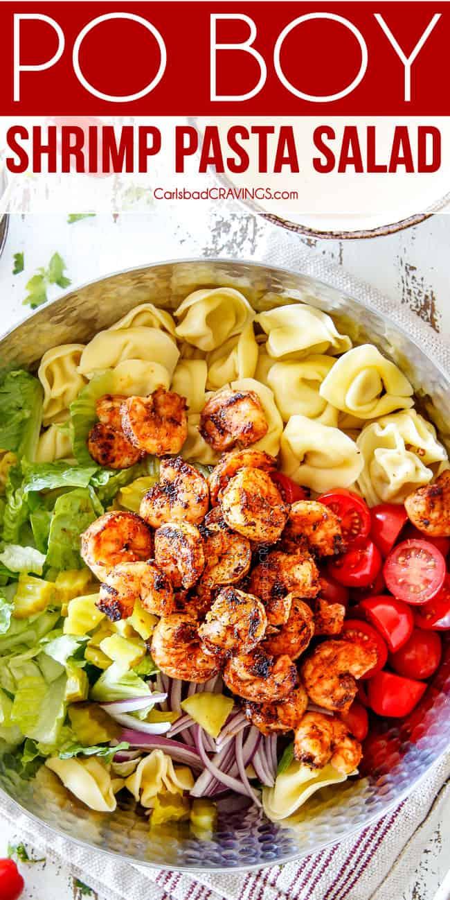 Po Boy Shrimp Pasta Salad Carlsbad Cravings