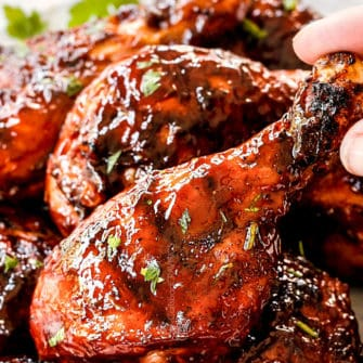 Grilled BBQ Chicken with Homemade BBQ  Sauce (Video!)