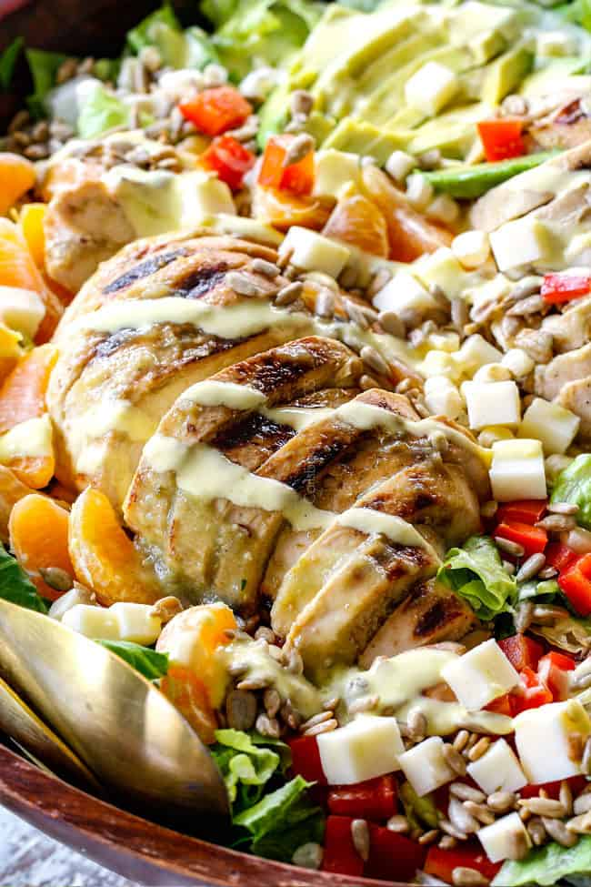 Salsa Verde Pepper Jack Chicken Salad with Mango Dressing