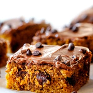 Pumpkin Bars with Nutella Cream Cheese Frosting