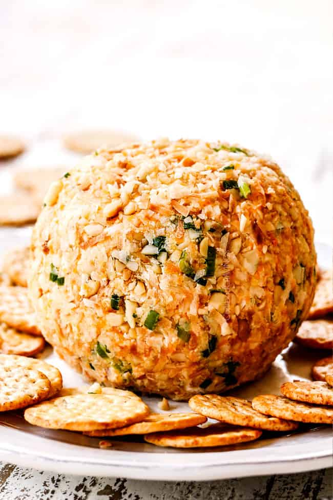 up close of a Pineapple Cheese Ball
