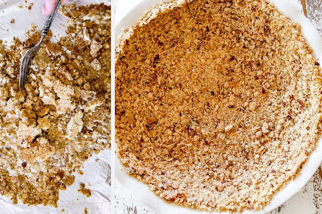 showing how to make ice cream pie by making cookie pie crust