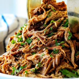 Slow Cooker Honey Lime Salsa Verde Pork