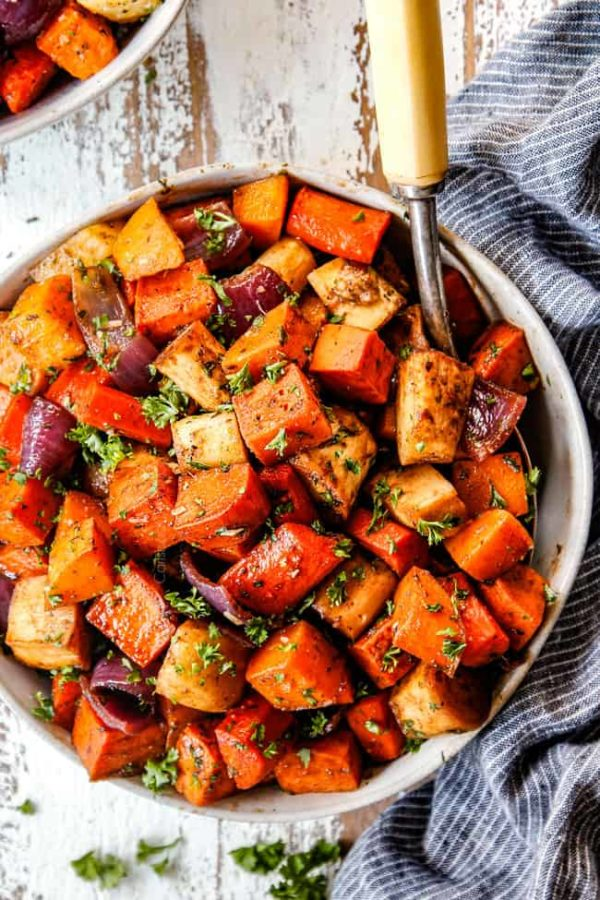 Roasted Root Vegetables Maple Balsamic Amp Parmesan Video