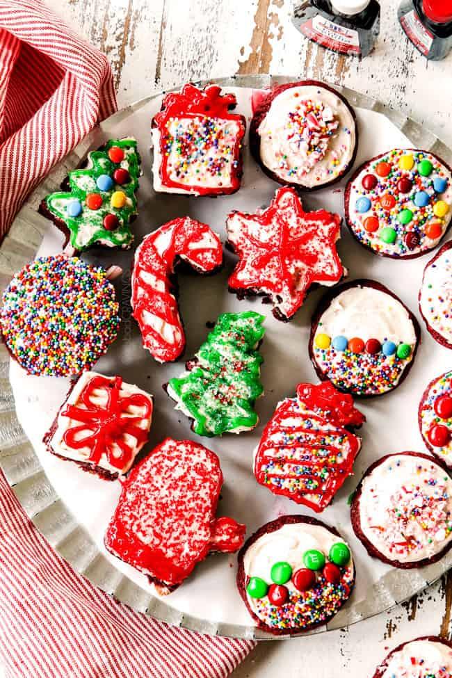 Red Velvet Brownies & Red Velvet Cookies