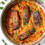 Blackened Salmon in Creamy Cajun Sauce