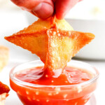 dipping cream cheese wonton recipe in sweet and sour sauce