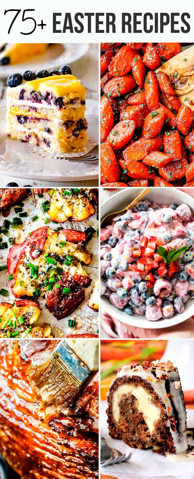 Over 75 of the best Easter Recipes from appetizers to sides, to ham, to dessert! Plan your whole Easter menu from one place!