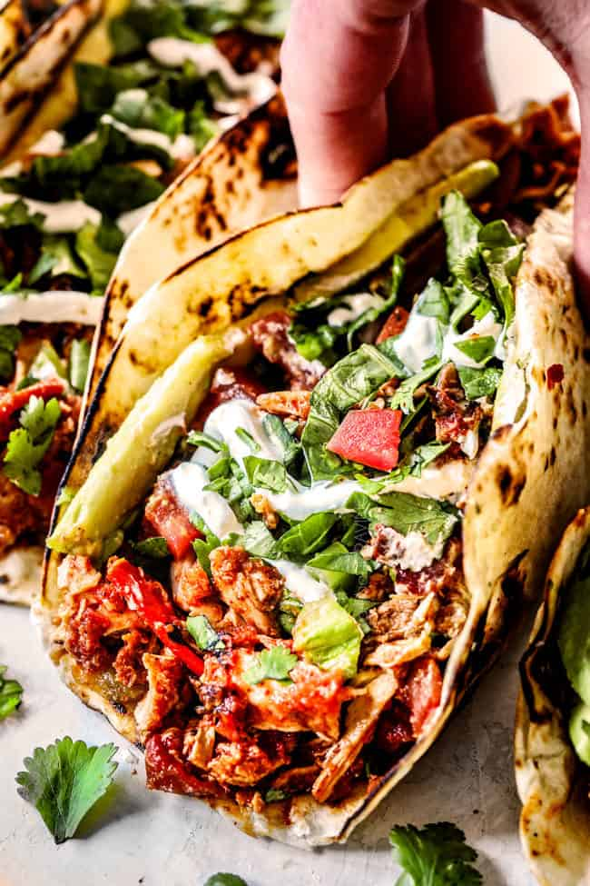 up close of Mexican Chicken Tacos