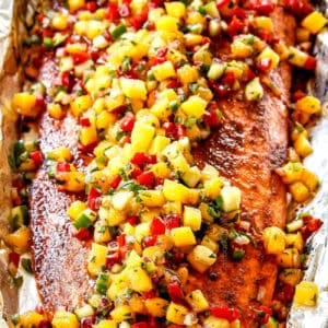 Chipotle Salmon with Mango Salsa