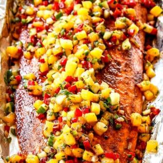 Chipotle Salmon with Mango Salsa