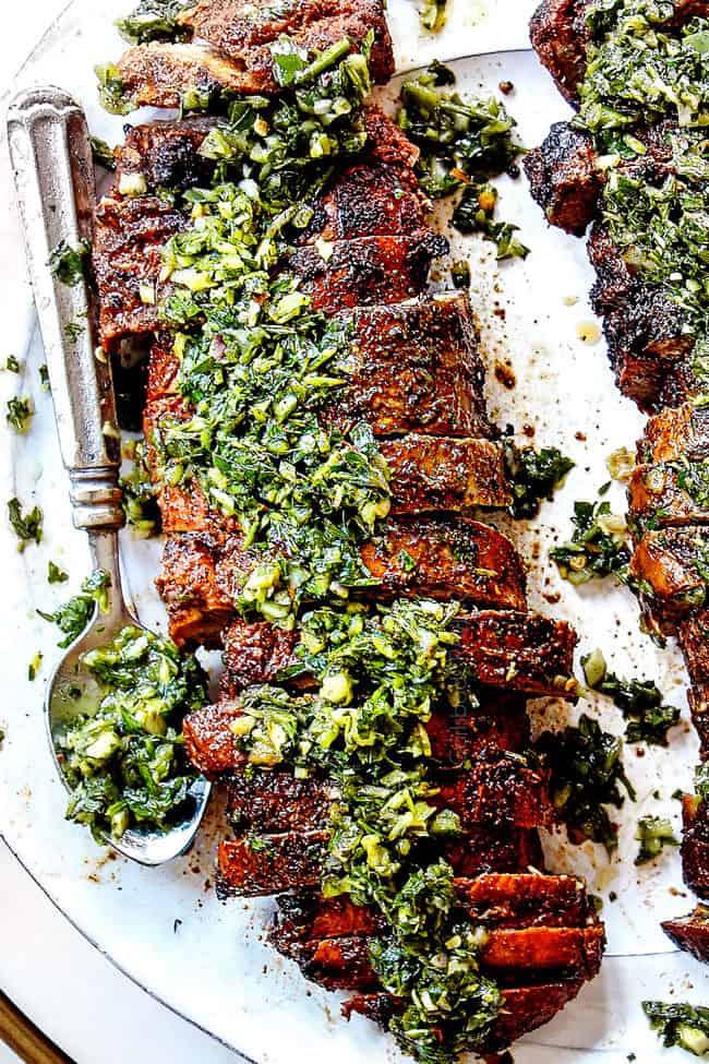 top view of grilled pork tenderloin recipe