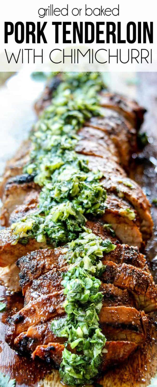 up close of sliced grilled pork tenderloin recipe