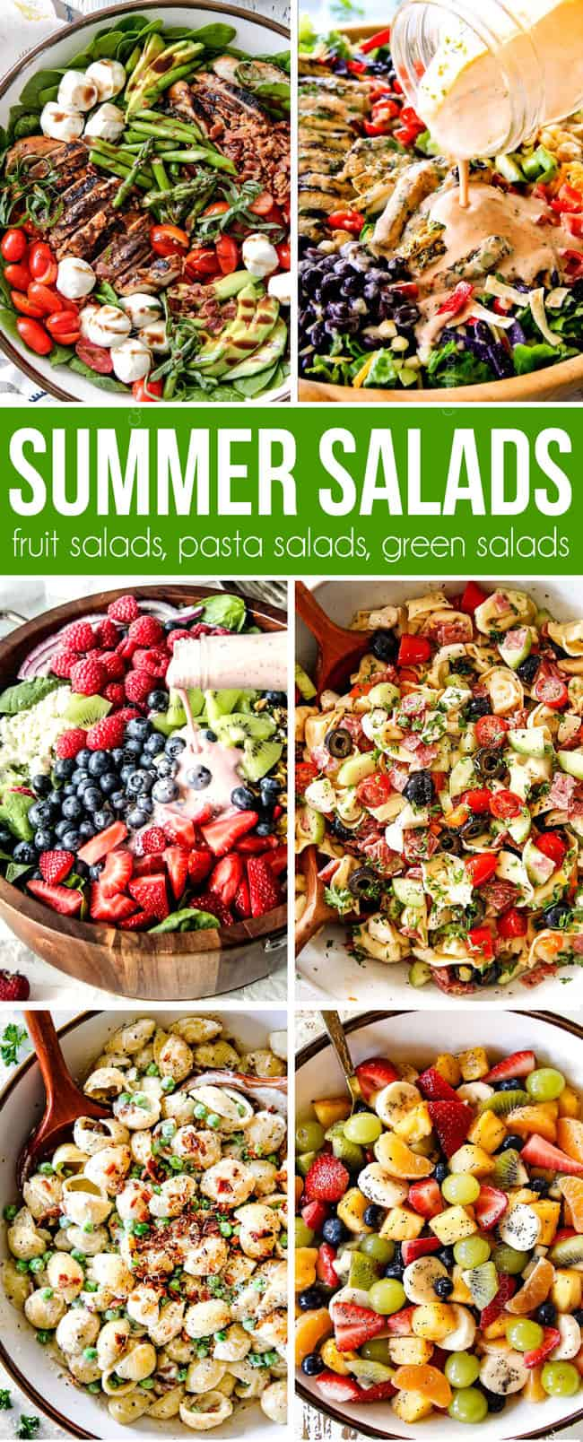 The best summer salad recipes from fruit salads to green salads tot pasta salads all in one place!