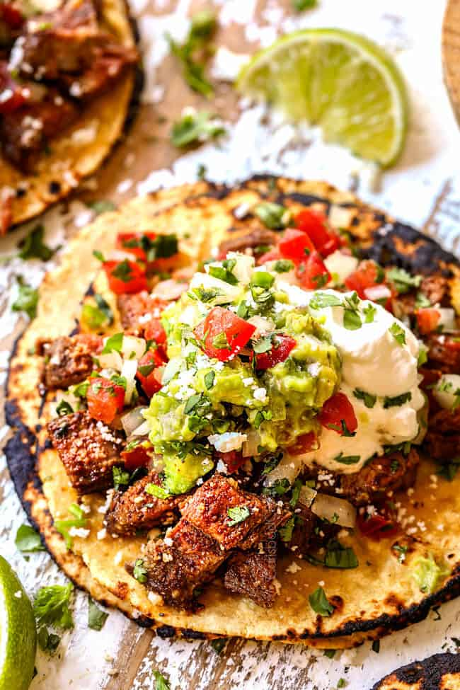 authentic street tacos recipe with carne asada
