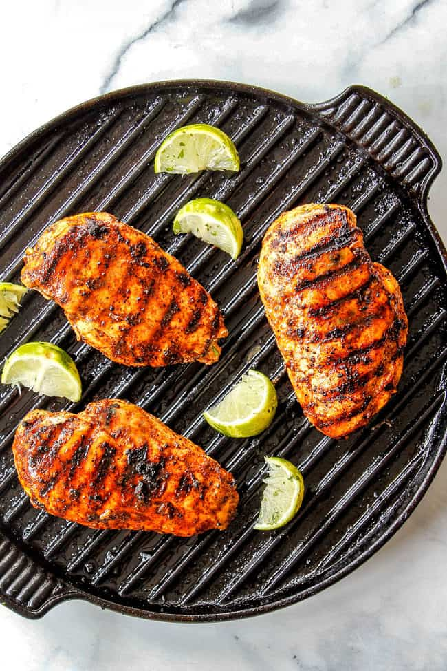 showing how to make fiesta lime chicken applebee's by griilling chicken
