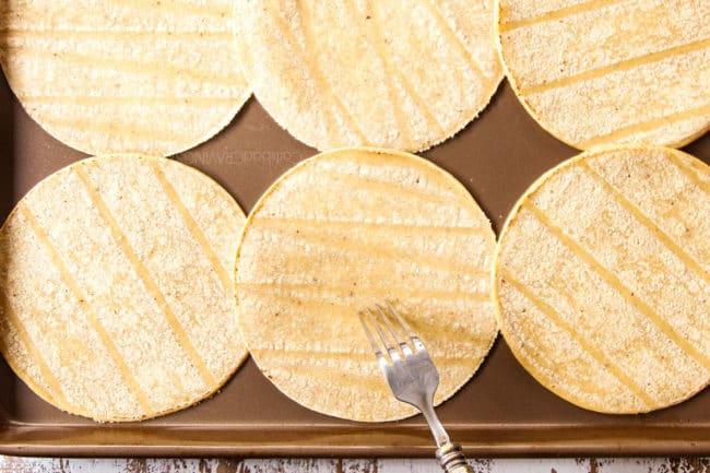 cpoking holes in tortillas