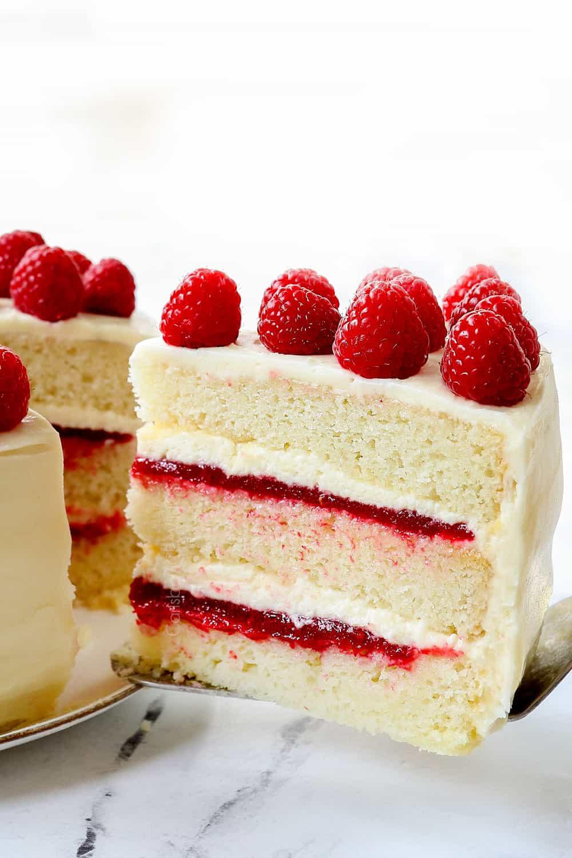 a piece of white chocolate cake recipe